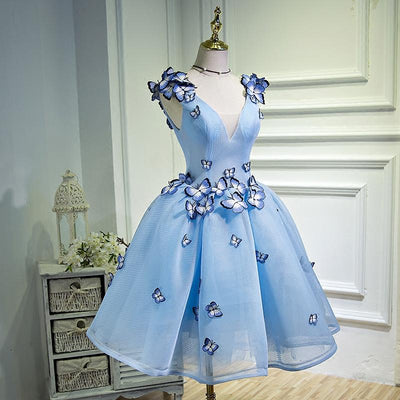 2018 A-line Short Prom Drsess Juniors Homecoming Dresses SKY532 - DemiDress.com