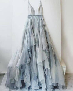 A-line Spaghetti Straps Floor-length Prom Drsess 2017 Evening Gowns SKY579