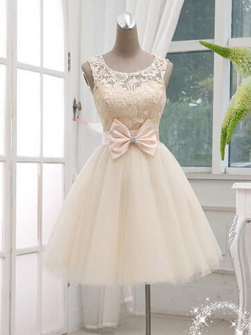 A-line Scoop Short Prom Drsess Juniors Homecoming Dresses SKY591