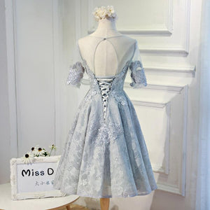 2017 A-line Scoop Short Prom Drsess Homecoming Dresses SKY659 - DemiDress.com