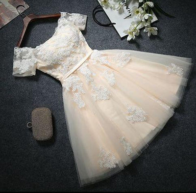 2017 Charming Homecoming Dresses A-line Short Prom Dress SKY702
