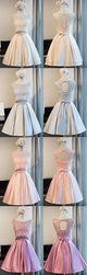 Charming A-line Scoop Homecoming Dress Pink Short Prom Drsess SKY763