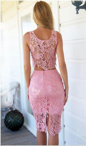 2017 Sheath/Column Two Pieces Prom Drsess Short Charming Homecoming Dresses SKY767 - DemiDress.com