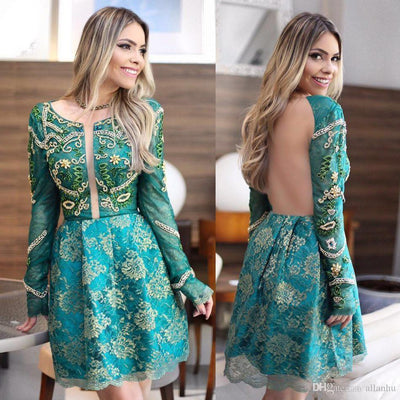 2017 A-line Prom Drsess Short Charming Homecoming Dresses SKY773