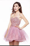 A-line Sweetheart Tulle Homecoming Dress Short Prom Drsess SKY791