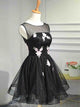A-line-Scoop-Homecoming-Dresses-Black-Short-Prom-Dress-SKY870
