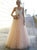 2018 A-line Chic Prom Dress Pink Lace Long Prom Dress SKY892 - DemiDress.com