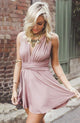 Charming A-line V-neck Pink Short Prom Drsess Formal Dress SKY981
