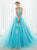 A-line Sweetheart Floor-length Tulle Blue Prom Dress Evening Drsess SKY999