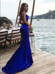 Trumpet/Mermaid Scoop Sweep/Brush Train Sleeveless Chiffon Prom Dress/Evening Dress # VB002
