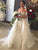 Sheath/Column Off-the-shoulder Sweep/Brush Train Short Tulle Wedding Dress #VB046