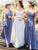 A-line One Shoulder Floor-length Sleeveless Chiffon Bridesmaid Dresses # VB101