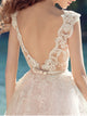 Lace Wedding Dress Straps Brush Train Appliques Beautiful Simple Wedding Dress # VB1021