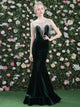 Mermaid Prom Dress Scoop Floor-length Sexy Hunter Rhinestone Prom Dress/Evening Dress # VB1024