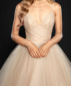 Ball Gown Prom Dress Spaghetti Straps Simple Prom Dress/Evening Dress # VB1057