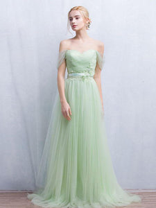 2018 Blue Prom Dres Off-the-shoulder Floor-length Cheap Long Prom Dress/Evening Dress # VB1058 - DemiDress.com