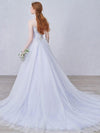 2018 Cheap Prom Dress A-line Sweetheart Brush Train Silver Simple Prom Dress # VB1064 - DemiDress.com