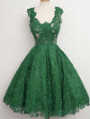 2018 Homecoming Dress Green Knee-length Appliques Lace Homecoming Dress/Short Dress # VB1070 - DemiDress.com