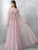 Pearl Pink Prom Dress Lace Brush Train Half sleeve Cheap Long Prom Dress/Evening Dress # VB1089
