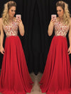 A-line Halter Floor-length Sleeveless Chiffon Prom Dress/Evening Dress # VB110