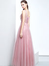 2018 A-line Appliques Long Beading Cheap Pink Prom Dress/Evening Dress # VB1112 - DemiDress.com