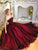 Burgundy Prom Dress Sweetheart Cheap Long Simple Prom Dress/Evening Dress # VB1116