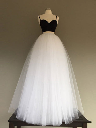 Ivory Prom Dress Spaghetti Straps Cheap Simple Long Prom Dress/Evening Dress # VB1131