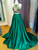 Hunter Prom Dress A-line Scoop Brush Train Beading Cheap Appliques Prom Dress/Evening Dress # VB1144