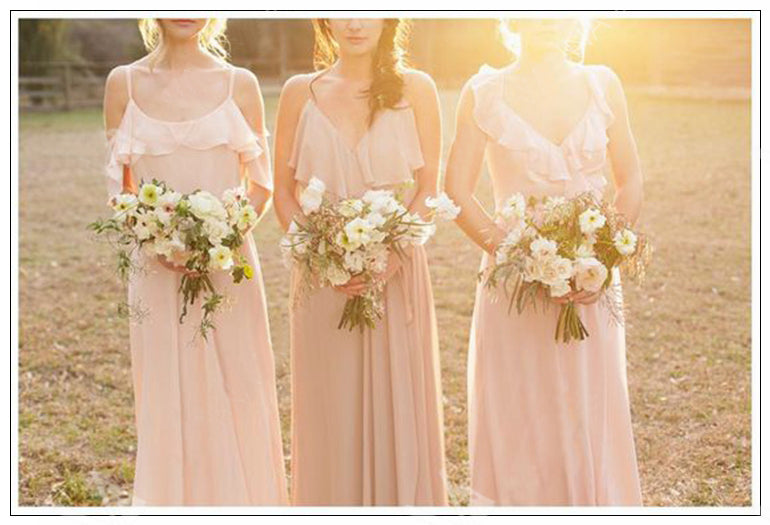 2018 Bridesmaid Dresses A-line Simple Long Pink Cheap Bridesmaid Dresses # VB1197