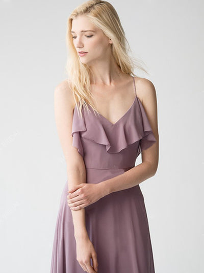 2018 Bridesmaid Dresses Cheap Spaghetti Straps Sexy Simple Long Bridesmaid Dresses # VB1198