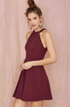 Burgundy Homecoming Dress A-line Scoop Simple Cheap Homecoming Dress # VB1201