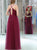 Cheap Prom Dress Long A-line Simple Spaghetti Burgundy Prom Dress # VB1205