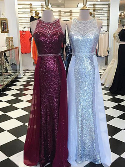 Burgundy Tight Prom Dress Fitted Sheath Unique Long Cheap Prom Dress