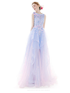 Cheap Prom Dress A-line Unique Lace Beautiful Long Prom Dress # VB1324