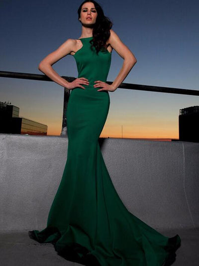 Mermaid Prom Dress Simple Modest African Hunter Cheap Long Prom Dress # VB1349
