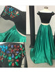 Two Piece Prom Dress A line  Modest Beautiful Unique Cheap Long Prom Dress # VB1352