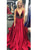 2018 Red Long Prom Dress A-line Simple Modest African Beautiful Cheap Prom Dress # VB1356 - DemiDress.com