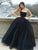 2018 Black Long Prom Dress Ball Gown Simple Modest Strapless Cheap Prom Dress # VB1358 - DemiDress.com