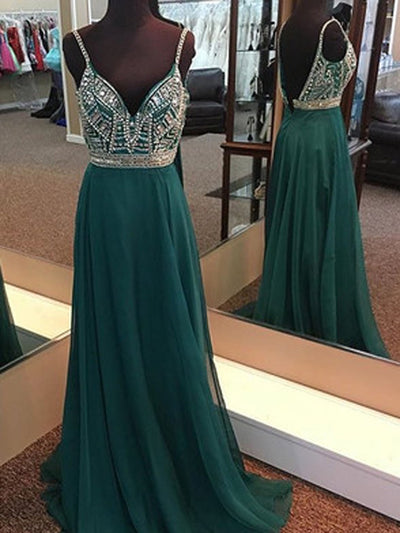 Cheap Prom Dress A-line Simple Modest Chiffon Long Prom Dress # VB1366