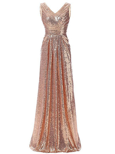 Champagne Bridesmaid Dress Simple Modest Beautiful Cheap Long Bridesmaid Dress # VB1381
