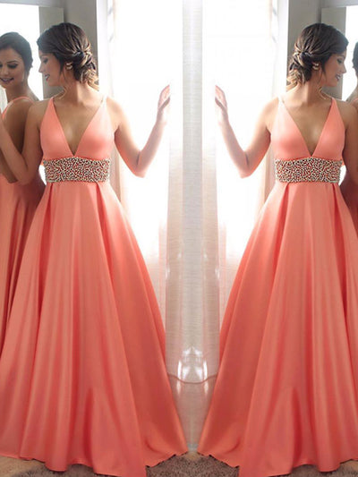 2018 Chic Prom Dress Modest Cheap Simple Long Prom Dress #VB1393 - DemiDress.com