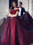 2018 Long Burgundy Prom Dress A-line Simple Modest African Cheap Prom Dress # VB1397 - DemiDress.com
