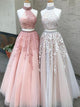 Two Piece Prom Dress A-line Simple Modest African Lace Cheap Long Prom Dress # VB1398