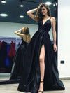 A line Black Prom Dress Simple Modest Beautiful Cheap Long Prom Dress # VB1412