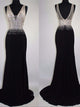 Mermaid Prom Dress Simple Modest Chiffon Black Cheap Long Prom Dress # VB1415