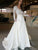 A Line V Neck Wedding Dress Plus Size Lace Vintage Wedding Dress # VB1421