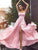 2018 Chic Pink Prom Dress Modest Cheap Simple Long Prom Dress #VB1424 - DemiDress.com