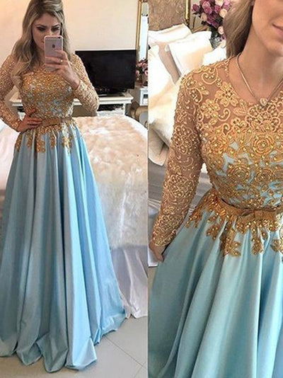 2018 Prom Dress With Sleeves Simple Modest Elegant African Cheap Long Prom Dress # VB1439 - DemiDress.com