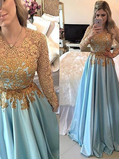 Modest Long Prom Dresses with Sleeves