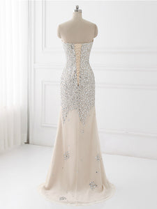 Champagne Chiffon Prom Dress Modest Cheap Long Prom Dress #VB1466